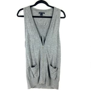 Banana Republic > Wool Blend Grey Zippered Vest